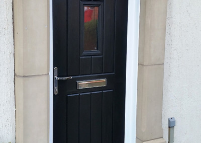 English cottage rockdoor in black
