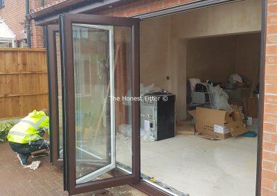 Bifold Doors In Rosewood The Honest Fitter Liverpool
